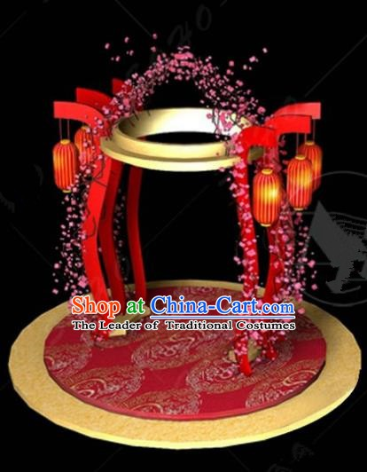 Handmade China Spring Festival Archway Lights Arrangement Lamplight Decorations Stage Display Lanterns