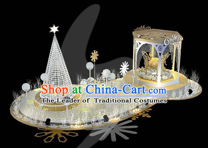 traditional handmade christmas lights scene stage decorations shiny christmas tree lamplight led lanterns - Christmas Stage Decorations