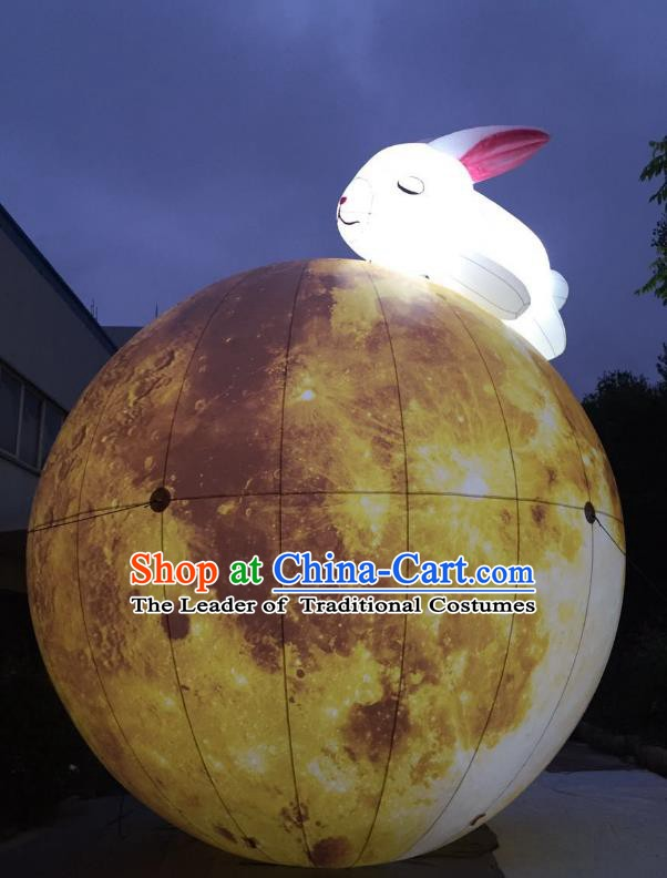 Handmade China Mid-Autumn Festival Decorations Lights Moon Lanterns Stage Display Lamp