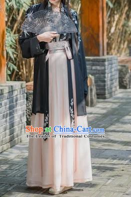 Traditional Chinese Ancient Costume Song Dynasty Young Lady Embroidered Hanfu Clothing for Women