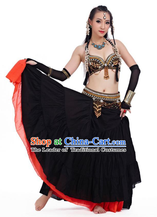 Indian Primitive Tribe Belly Dance Dress Costume India Oriental Dance Clothing for Women