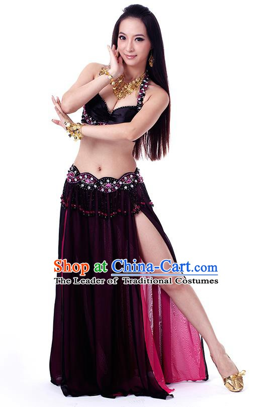 93566dd25d9 Traditional Indian Belly Dance Black Dress India Oriental Dance Clothing  for Women