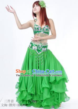 Traditional Indian Belly Dance Orange Dress India Oriental Dance Clothing for Women
