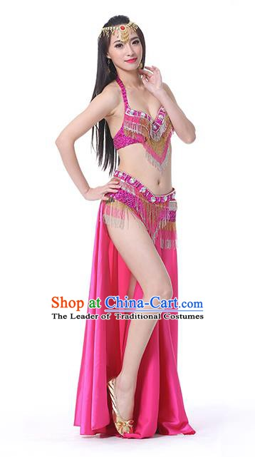 e029a5a1d4 Indian Traditional Oriental Bollywood Dance Rosy Dress Belly Dance Sexy  Costume for Women