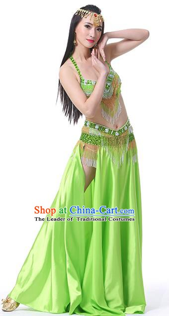 f82f353b9 Indian Traditional Oriental Bollywood Dance Light Green Dress Belly Dance  Sexy Costume for Women