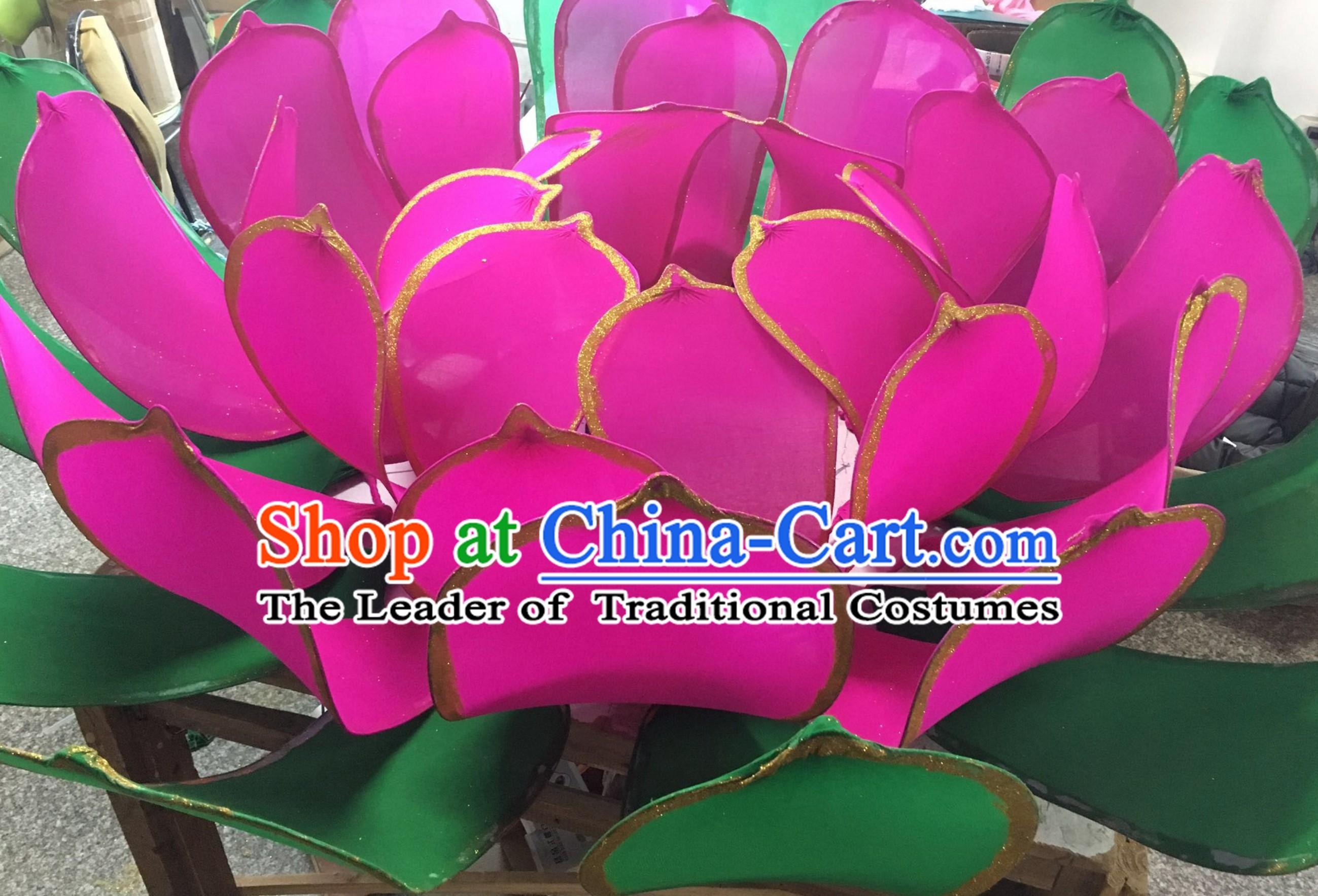 Handmade Stage Pond Giant 3 Meters Lotus Flower Props Arts