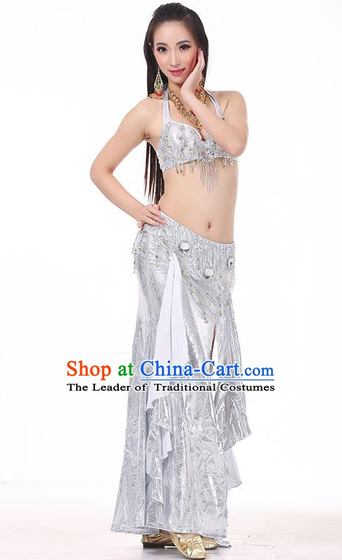 Top Indian Belly Dance White Dress India Traditional Raks Sharki Oriental Dance Performance Costume for Women