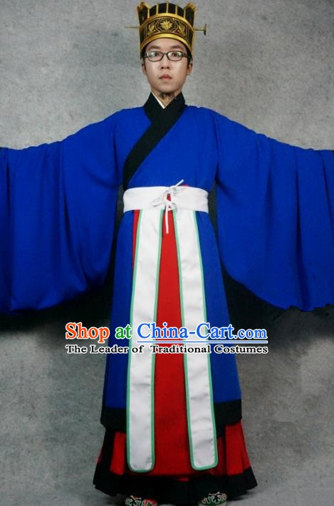 Chinese Ming Dynasty Clothes Men Taoist Priest Costume Ancient Sacrifice Clothing for Men