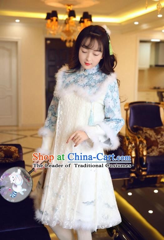 Traditional Chinese National Costume Qipao Dress Tangsuit Cheongsam Clothing for Women