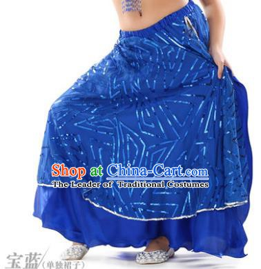 Asian Indian Children Belly Dance Royalblue Bust Skirt Raks Sharki Oriental Dance Clothing for Kids