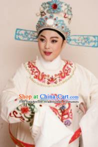 Traditional Chinese Beijing Opera Lang Scholar White Hats Peking Opera Niche Headwear