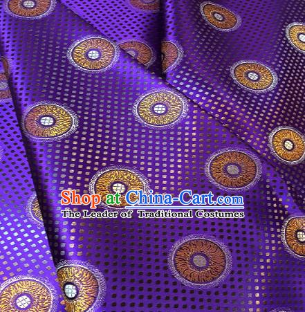 Chinese Traditional Fabric Mongolian Robe Purple Brocade Chinese Fabric Asian Material