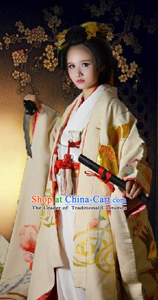 Japan Traditional Princess Costume White Yukata Dress Japanese Wedding Furisode Kimono for Women