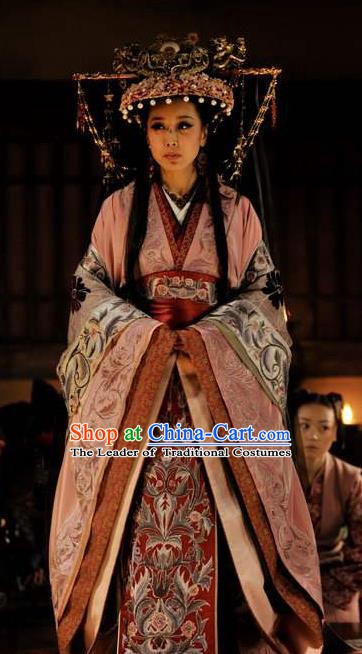 Chinese Ancient Theatre Princess Embroidered Costumes and Headpiece Complete Set