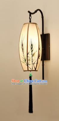 Traditional Asian Chinese Lantern China Style Wall Lamp Electric Printing Bamboo Palace Lantern