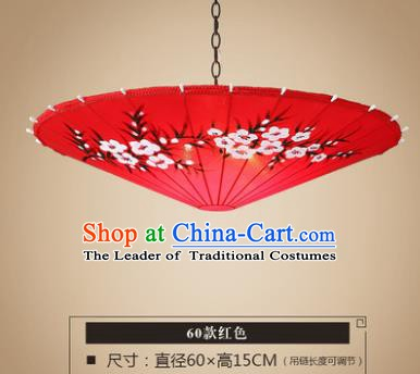 Asian China Traditional Handmade Lantern Red Umbrella Ceiling Lamp Ancient Palace Lanern