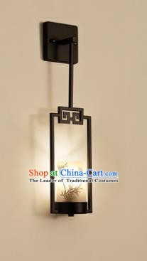 Handmade Traditional Chinese Lantern China Style Printing Bamboo Wall Lamp Electric Palace Lantern