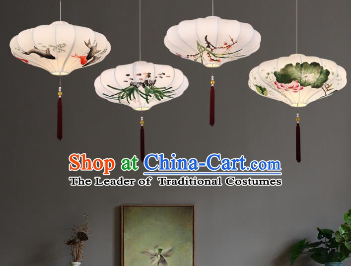 Traditional China Handmade Lantern Ancient Hanging Lanterns Palace Ceiling Lamp