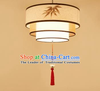 Traditional China Handmade Lantern Ancient Printing Bamboo Hanging Lanterns Palace Ceiling Lamp