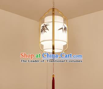 Traditional China Handmade Lantern Ancient Golden Frame Hanging Lanterns Palace Ceiling Lamp