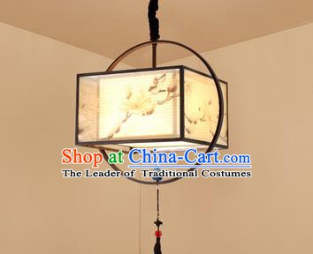 Traditional China Handmade Lantern Ancient Orchid Hanging Lanterns Palace Ceiling Lamp