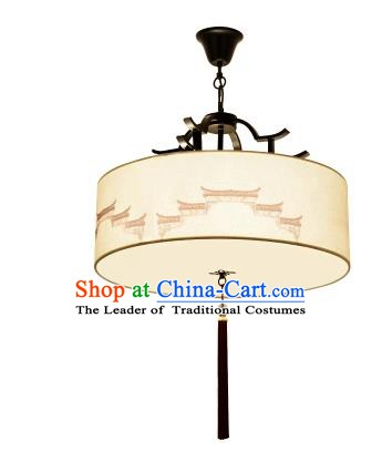 Traditional China Handmade Lantern Ancient Hanging Lanterns Printing Palace Ceiling Lamp