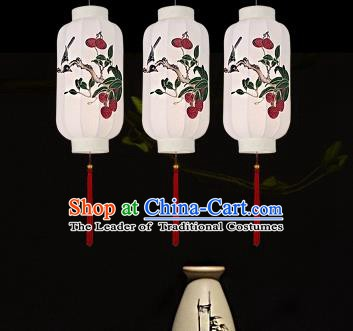 Traditional China Handmade Lantern Ancient Printing Hanging Lanterns Palace Ceiling Lamp