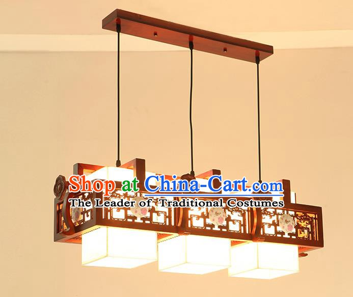 China Traditional Handmade Ancient Wood Hanging Lantern Palace Lanterns Ceiling Lamp