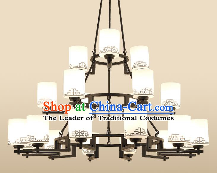 Traditional China Handmade Hanging Lantern Ancient Twenty-one-pieces Lanterns Palace Ceiling Lamp