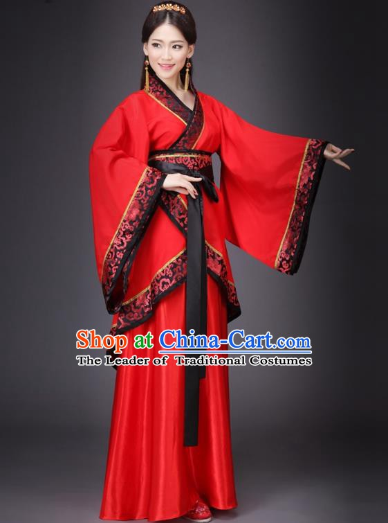 Traditional Chinese Ancient Costume China Wedding Dress Ancient Han Dynasty Hanfu Princess Clothing - Asian Wedding Dresses 2016 Trends