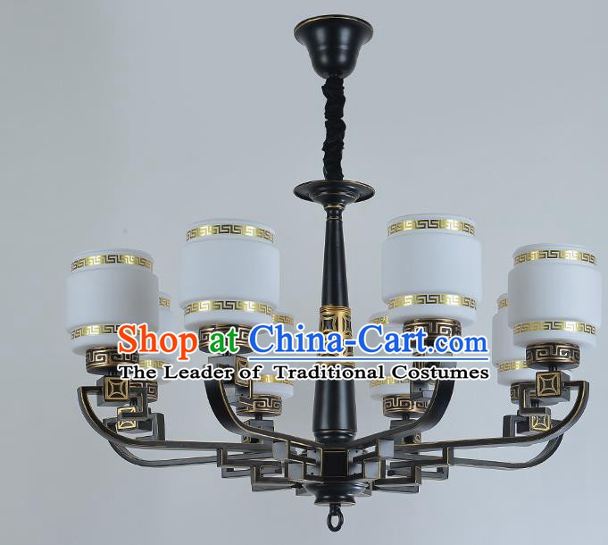 Traditional China Handmade Lantern Ancient Hanging Lanterns Palace Golden Ceiling Lamp