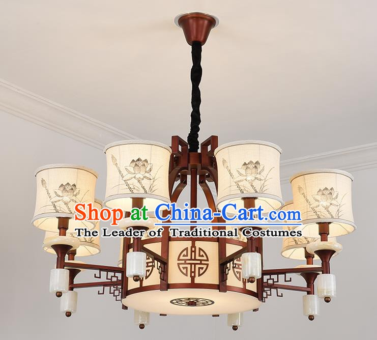 Traditional China Handmade Lantern Ancient Eight-pieces Hanging Lanterns Palace Ceiling Lamp