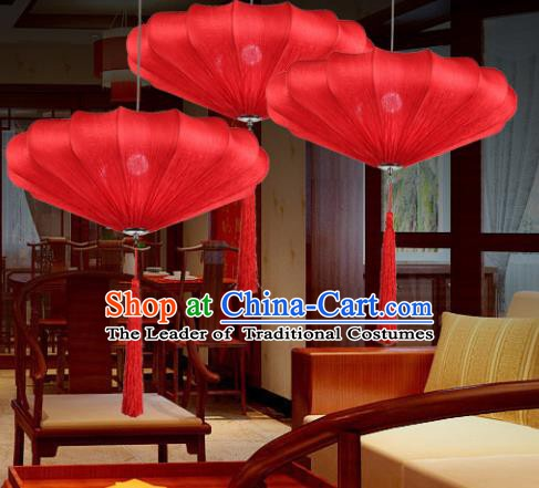 Traditional China Handmade Red Lantern Ancient New Year Hanging Lanterns Palace Ceiling Lamp