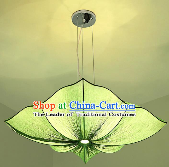 Traditional China Handmade Lantern Ancient New Year Green Hanging Lanterns Palace Ceiling Lamp