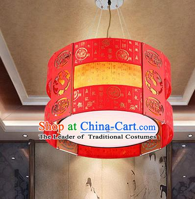 China Handmade Ceiling Lantern Traditional Hanging Red Lanterns Palace Lamp