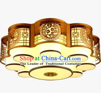 China Handmade iron Golden Ceiling Lantern Traditional Ancient Lanterns Palace Lamp