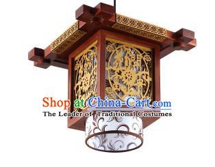 China Handmade Wood Carving Ceiling Lantern Traditional Ancient Lanterns Palace Lamp