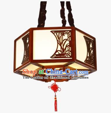 China Handmade Wood Ceiling Lantern Traditional Ancient Orchid Hanging Lamp Palace Lanterns
