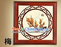 Asian China Handmade Wall Lanterns Traditional Ancient Square Lamp Printing Plum Blossom Palace Lantern