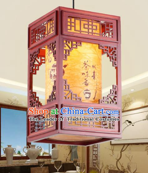 Chinese Handmade Printing Lantern Traditional Palace Ceiling Lamp Ancient Hanging Lanterns