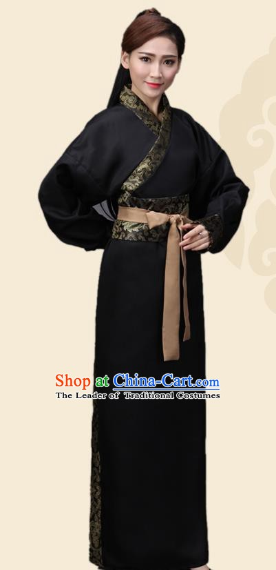 China Ancient Han Dynasty Swordswoman Costume Theatre Performance Heroine Clothing for Women