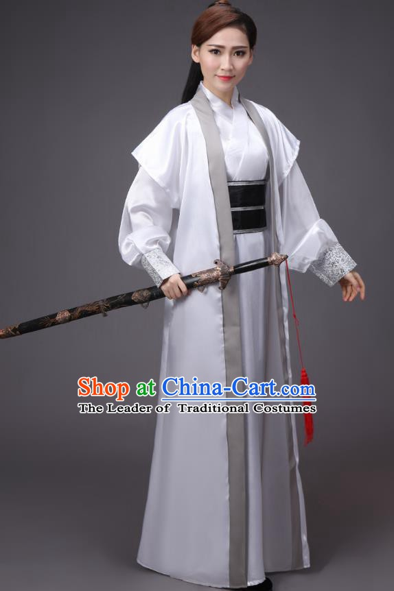 China Song Dynasty Female Knight-errant Costume Ancient Theatre Performance Swordswoman Clothing for Women
