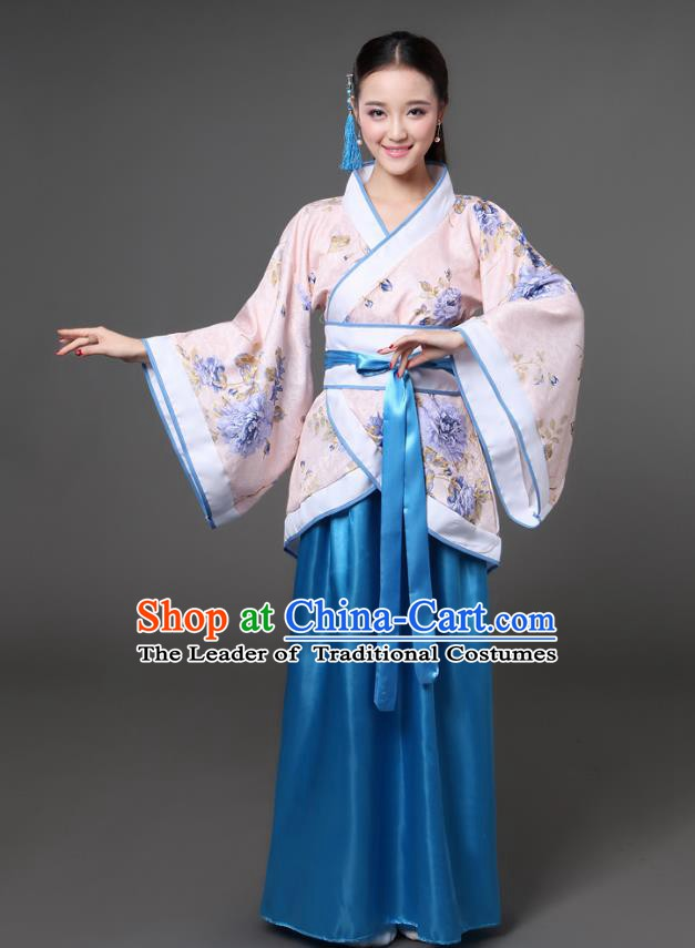 China Han Dynasty Palace Lady Costume Ancient Theatre Performance Princess Dress for Women