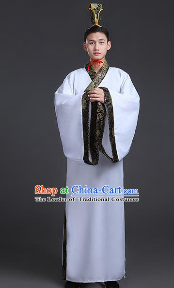 China Ancient Han Dynasty Scholar Hanfu Clothing for Men