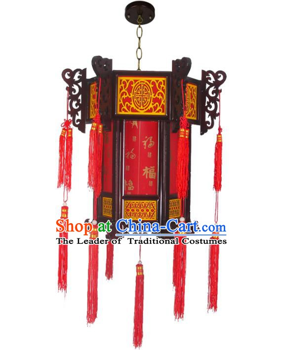 Chinese Handmade Palace Hanging Lantern Traditional Lantern Festival Ceiling Lamp Ancient Lanterns