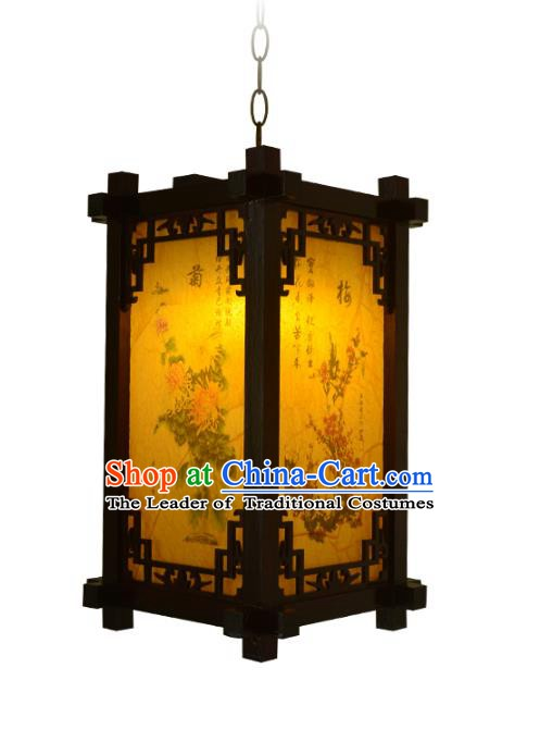 Chinese Handmade Palace Printing Hanging Lantern Traditional Lantern Festival Ceiling Lamp Ancient Lanterns