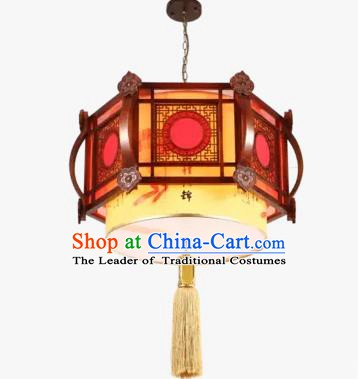 Chinese Handmade Wood Lantern Traditional Palace Ceiling Lamp Ancient Lanterns