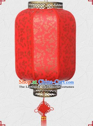 Chinese Handmade Palace Lantern Traditional Wintersweet Hanging Lantern Red Ceiling Lamp Ancient Lanterns