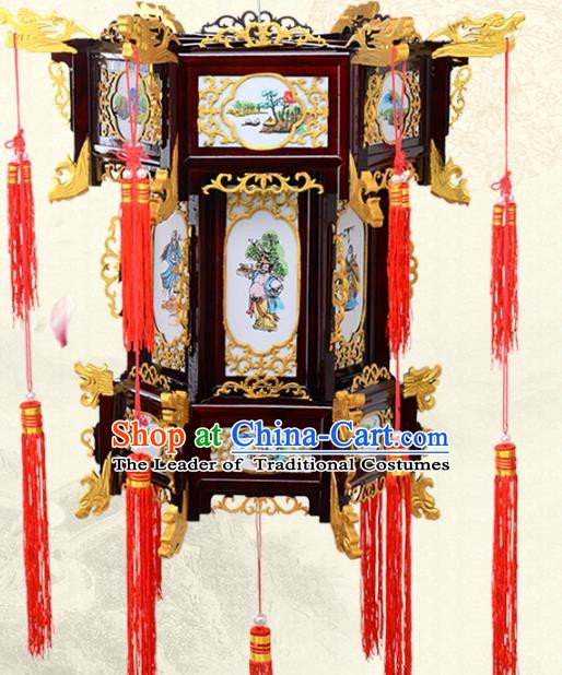 Chinese Handmade Eight Immortals Palace Lanterns Traditional New Year Hanging Lantern