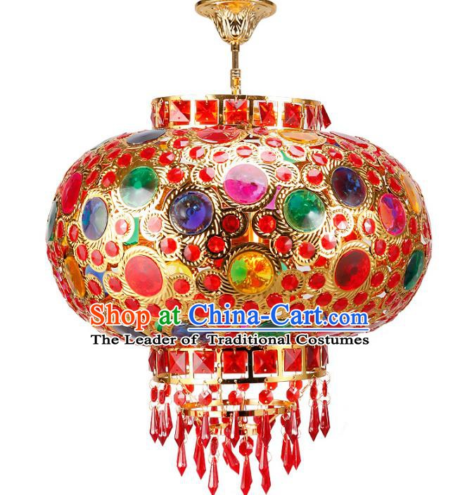 Chinese Ancient Handmade Colorful Palace Lanterns Traditional Hanging Lantern